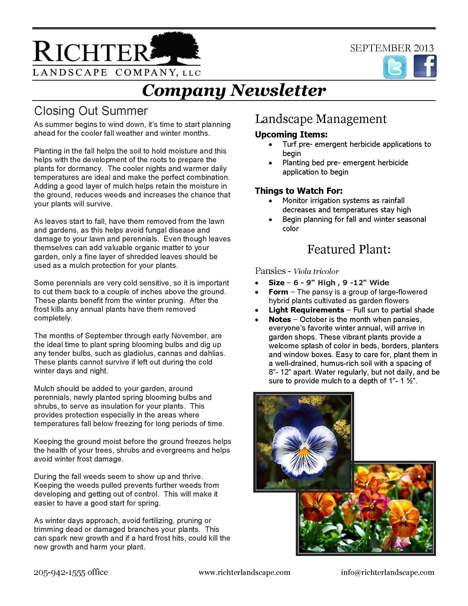 09/13 September Newsletter
