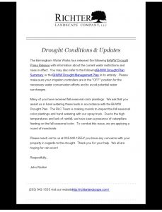 Drought Conditions  Updates